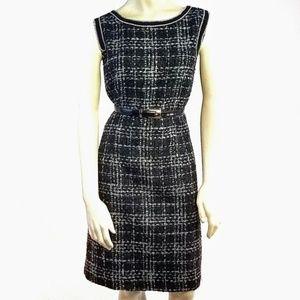 Trina Turk Wool Tweed Sleeveless Shift Dress 12